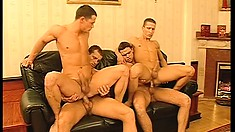 Fred Goldsmith and his new bad boy friends enjoy hot gay sex