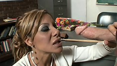 Hot Milf Demi Delia gives her student the chance to get better grades
