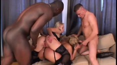 Two firm cocks and two nasty MILF pussies are the perfect match