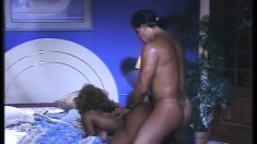 Janet Jacme moans through gritted teeth and takes Tony Montana's dick