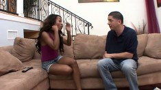 Lucky dude has a horny stepsister just waiting for his hot cock