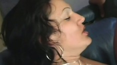 Slutty girl takes a hard cock in each hole and enjoys intense pleasure