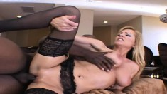 Insatiable mature Nicole Moore seduces and rides a hung black stud