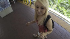 Mesmerizing blonde teeny enjoys a hard pounding from behind POV style