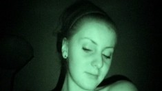 Tight amateur babe gets herself shafted in night vision camera