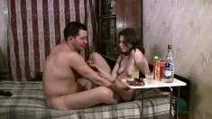 Hot Ida surrenders her fiery peach to her boyfriend after a few drinks