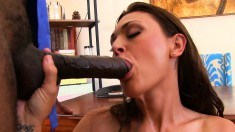 Stunning wife Olivia has sex with a black stud and her husband watches