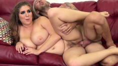 Big breasted Alex Chance plays with a sex toy and gets drilled deep