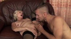 Handsome young stud loves to seduce a granny and fuck her like crazy
