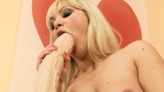 Blonde hottie Lee Lexxus gets into a fuck fest with a hot brunette