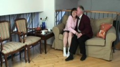 Big Breasted Granny Ivana Has A Dirty Old Man Fucking Her Lovely Cunt