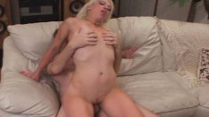 Alluring Blonde Babe With A Sublime Ass Goes Crazy For A Raging Stick