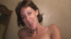 Wild blonde hooker peels off her clothes and reveals her oral talents