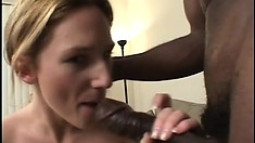 Irresistible Gen Padova is greedy for some massive black cock