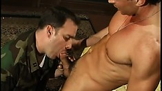 Voracious Soldier Is Licking And Kissing Tight Anus Of Filthy Grouser