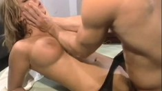 Avy is a naughty nurse who fucks Trent after his medical exam