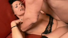 Phyllisha getting skewered with two older men's throbbing cocks