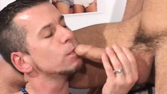 Johnathon and Ken test out some new toys on each other's tight asses