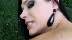 India Summer looks over her shoulder while being fucked doggy