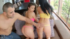 Anita B and Jessyka like pussy and ass as much as he likes to drill them