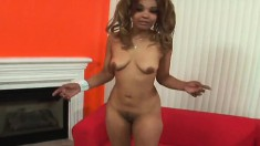 Mercedez teases and blows his black rod before he nails her bush