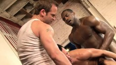 Hot Black Guy Enjoys Having An Interracial Threesome With Two White Dudes