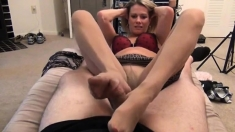 Blonde Twins Double Blowjob And Foot Fetish