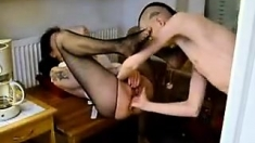Blowjob and anal hardcore on webcam