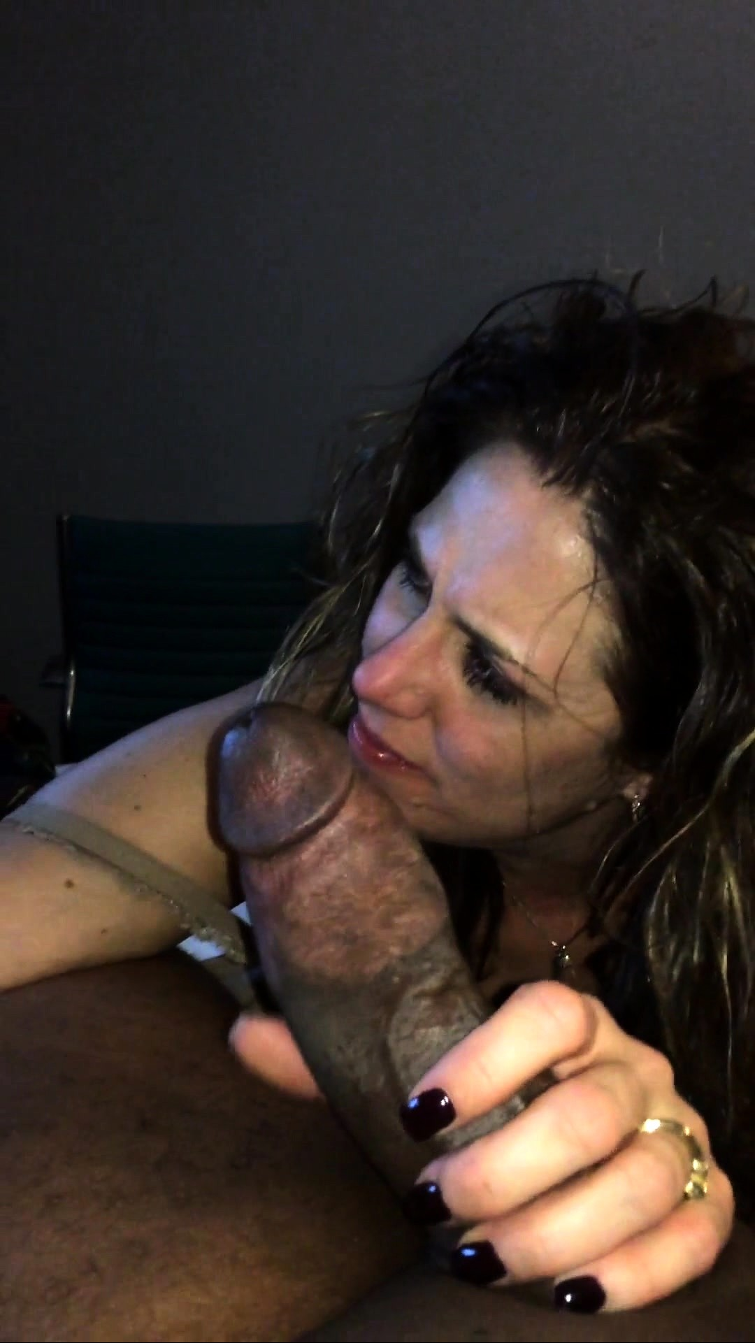 Mobile amateur mature blowjob