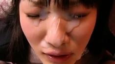 big facial on japanese girl