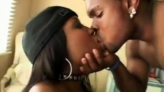 Bubble butt ebony whore fucked doggystyle by huge black cock