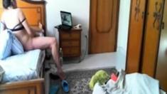 My horny mum masturbating at PC. Hidden cam