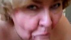 Granny Head # 35 Fat Old Norske Slut & Younger Svenske Guy
