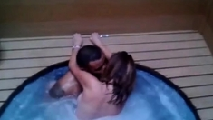 Bareback Cuckold BBC Hot Tub
