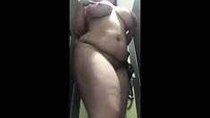 BBW Girl Expose in Public Toilet