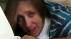 Mom's First Time Crying Anal